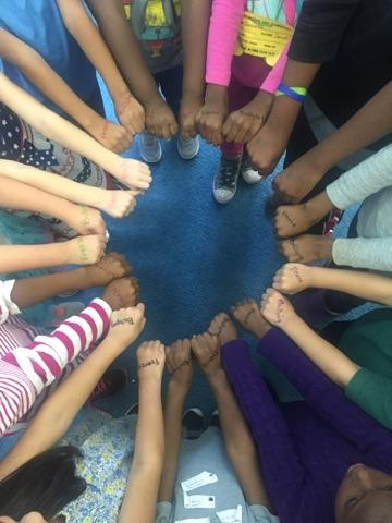 "Students at Sparkles! Fair Oaks join the ""Freeze Bullying"" Campaign"